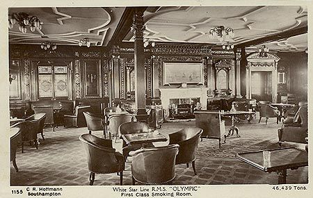 Rms Olympic 1st Class Smoking Room Ceiling Architrave